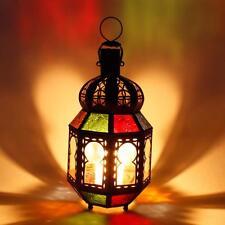 Orientalische Laterne Tamani Mini Glas Windlicht Multifarbig Gartendeko Deko