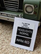LAND Rover Serie AMBULANZA MILITARE FRANCHI IR infrarosso FARO Decalcomanie 589196