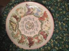 Wedgwood Calendar Plate 1998- Butterflies-Mint