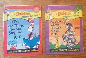 Lot 2 DR. SEUSS BEGINNER FUN BOOKS Workbooks Scholastic Letters & Counting