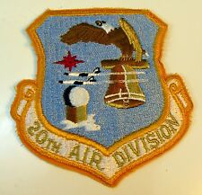 Vintage USAF Air Force 20th Air Division 1960s Military Patch