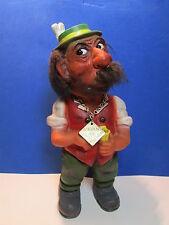 """Man Sniffing Snuff Nodder - 9 1/2"""" German Heico Troll Doll - Rare"""