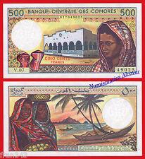 COMORES COMOROS 500 francs 1986-2004 Pick 10b   SC  /  UNC