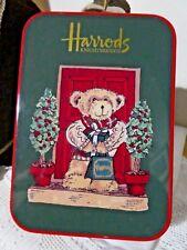 Harrods London Christmas  Bear Small Vintage Tin,  Advertising Christmas