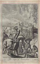 Blome's Bible History - THE SEIGE OF JERUSALEM - Copper Engraving - 1701