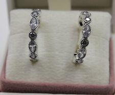f47d13399 AUTHENTIC PANDORA Alluring Brilliant Marquise Hoop Earrings 290724CZ #1451