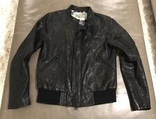 Rogan New York Mens 100% Lamb Leather Moto Jacket Medium $895