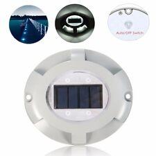 4 LED Solare Energia Lampada da Giardino Strada Path Stair Percorso Luci Esterno