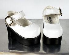 Leeke World MSD 1/4 BJD Doll Shoes 6.0cm White Platform MJ AOD DOD Luts & More