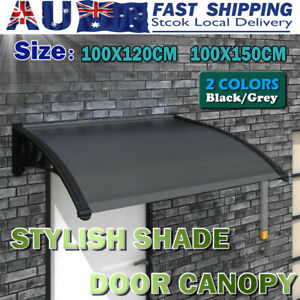 1.2M 1.5M Window Door Awning Outdoor UV Rain Cover Patio Canopy Sun Shield OZ