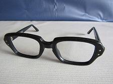 NOS Vtg.  Black Rimmed Glasses USA Military Issue USS 48-20 4 1/2 - 5 3/4 Frames