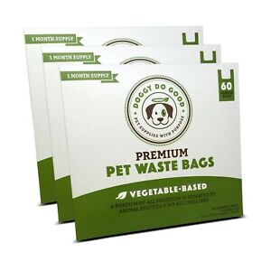 Biodegradable Dog Poop Bags   Compostable Dog Waste Bags with Handles   1... New