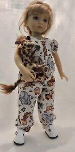 "Safari Romper & Giraffe - fits 13"" Little Darling by Dianna Effner"
