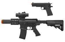 Licensed Colt Electric SMG M4 Rifle w/ 1911 Pistol Airsoft Gun BAXS +2000 BBs