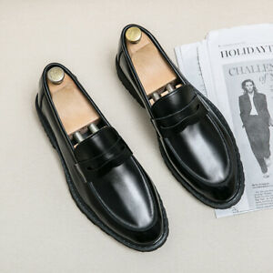 Mens Pointed toe Slip on Loafers Casual Creepers Formal Dress Party Oxford Shoes