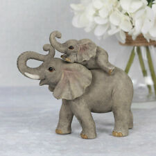 Mother and Baby ELEPHANT ADVENTURE Resin Ornament, Decorative Sculpture Figurine