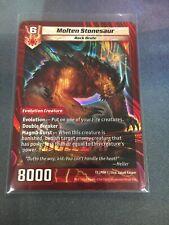 3x Molten Stonesaur Kaijudo x3 Duel Day New NM