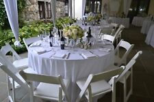 """20 Packs Pieces Round White 120"""" Inch Polyester Tablecloths 5' feet USA Quality"""