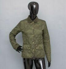 BARBOUR QUILT Jacket Ladies Green Coat Vintage Quilt UK 8