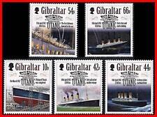 Gibraltar 2012 TITANIC / SHIPS SC#1314-18 MNH FV£2.06/CV$7.00 (SEE M/S ALSO)