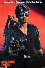 Sylvester Stallone Autographed COBRA 20x30 Movie Poster ASI Proof