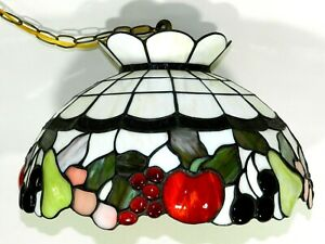 Tiffany Stained Glass Hanging Ceiling Lamp Light Fruit
