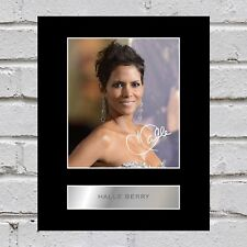 Halle Berry Signed  Photo Display