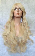Long High Heat Resistant Blonde Tousled Waves Full Synthetic Wig Wigs - 3565