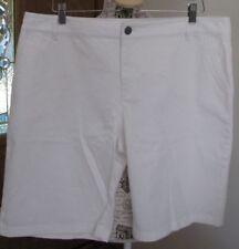 Pendleton Women's 18 White Walking Cotton Stretch Shorts