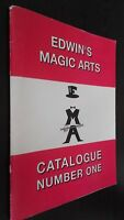 EDWIN'S Magic Artes Catálogo Number One 1991 Demuestra Buen Estado