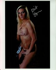 KAIT LYNN hand-signed BRA PANTIES REMOVED 8x10 HOT SEXY uacc rd coa IN-PERSON