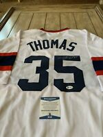 Frank Thomas Autographed/Signed Jersey Beckett COA Chicago White Sox