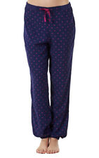 Ladies Pyjama Elasticated Bottoms Navy Loungewear Womens Pants PJ'S