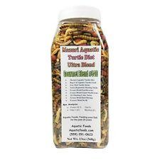 GB# 540 Mazuri Aquatic Turtle Gourmet Blend 13oz Jar  *FREE Bonus Bag included*