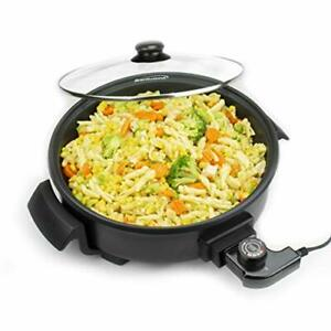 Brentwood Appliances Sk-67bk 12-inch Round Nonstick Electric Skillet With Vented