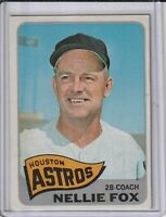 Nellie Fox Houston Astros 1965 Topps Baseball Card #485 Ex Mnt/Nr Mnt