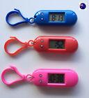 1PC Girls Boy Lady Keyring Key Ring pocket Led Digital Nurse School light Watch