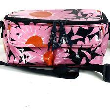 Vera Bradley Floral Insulated Lunch Box Adjustable Shoulder Strap Hot Pink Vinyl