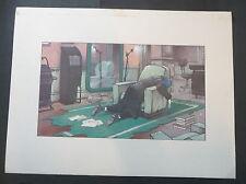 "affiche ofset  enki bilal 29.9 x 39.7 cm ""bureau"""