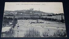 CPA CARTE POSTALE 1914 LYON RHONE ALPES PLACE BELLECOUR COTEAU DE FOURVIERE