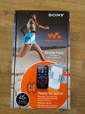 BRAND NEW Sony Walkman Sports Pack NWZ-E436SPOPI Video MP3 Player Armband Bundle