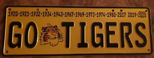 AFL RICHMOND TIGERS Embossed Novelty Car Number Plates, Trailers