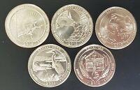 série 5 quarter dollar USA intégralité 2015 UNC