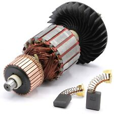 Anker Rotor Motor + Kohlebürsten für Makita Stemmhammer HM1202C HM1242C Neu