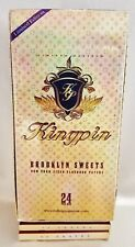 Full Box 24 Kingpin Brooklyn Sweets Gummed 1 1/2 Cigarette Rolling Papers 33 Per