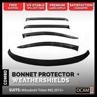 Bonnet Protector, Weathershields For Mitsubishi Triton MQ 2015+ Visors