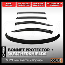 Bonnet Protector, Weathershields For Mitsubishi Triton MQ 2015+ Visors