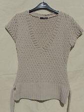 Jane Norman Beige / Stone Sleeveless Knit Jumper 12 / 14