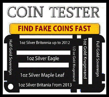 gold silver Coin size Test kit For genuine 1oz Solid Pure American Eagle Coin