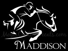 Personalized Jumping Hunter Eventing X Country Horse Decal Sticker CHOOSE COLOR